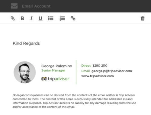 email signature idea
